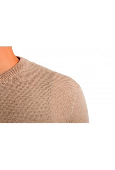 Malo Men's Crewneck Beige 100% Cashmere Pullover Sweater: Picture 2