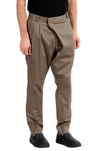 """Hugo Boss """"Fabrizio192"""" Men's Olive Green Pleated Casual Pants : Picture 2"""