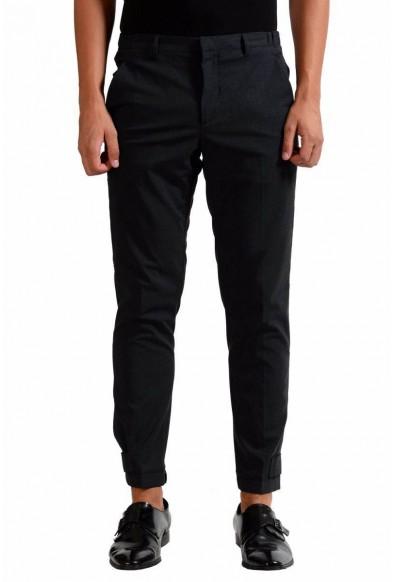Prada Men's Charcoal Wool Dress Pants