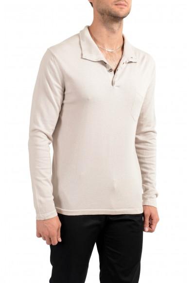 Malo Men's Cashmere Beige Sweater: Picture 2