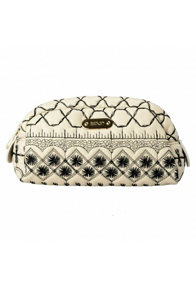 Red Valentino Women's 100% Leather Embroidered Cosmetic Bag