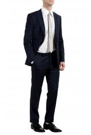 "Hugo Boss ""Johnstons2/Lenon"" Men's 100% Wool Blue Plaid Two Button Suit: Picture 3"