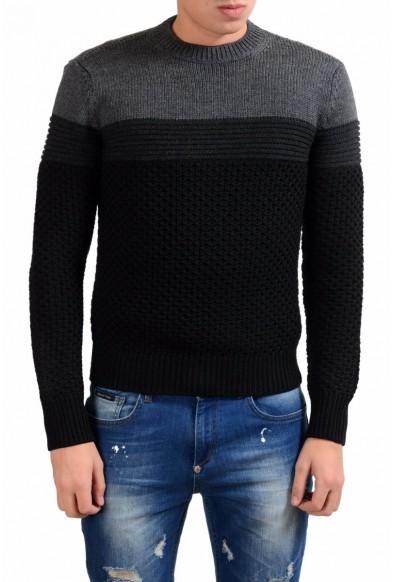 Prada Men's 100% Wool Heavy Knitted Crewneck Sweater