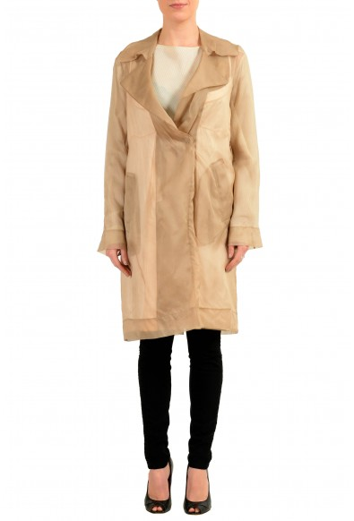Maison Margiela 1 100% Silk Multi-Color Women's Trench Coat