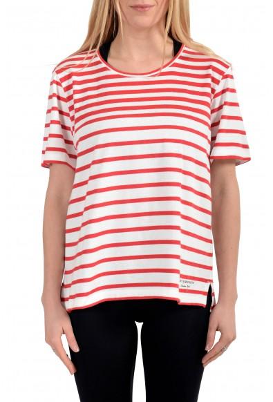 Burberry Women's Striped Short Sleeves T-Shirt Blouse Top