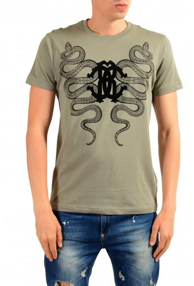 Roberto Cavalli Men's Gray Graphic Print T-Shirt