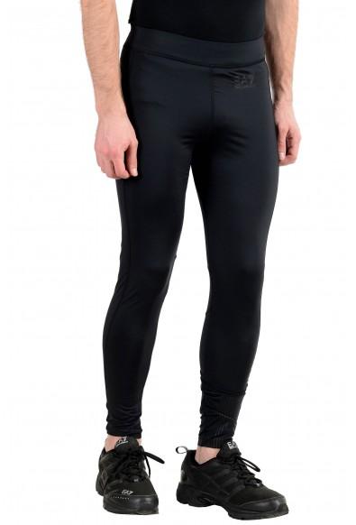 "Emporio Armani EA7 ""Tech"" Men's Black Stretch Bicycle Leggings Pants: Picture 2"