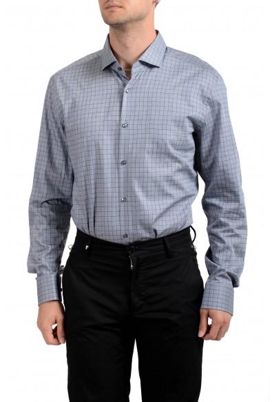 "Hugo Boss Men's ""Jasan"" Slim Fit Plaid Long Sleeve Dress Shirt: Picture 2"