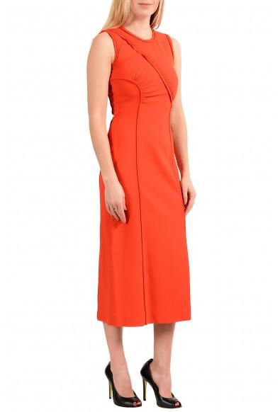 "Hugo Boss Women's ""FS_Dymeani_C"" Silk Orange Sleeveless Sheath Dress: Picture 2"