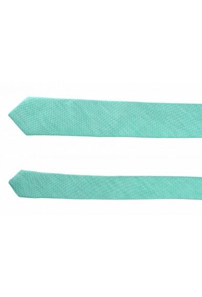 Hugo Boss Men's Green Linen Silk Tie: Picture 2
