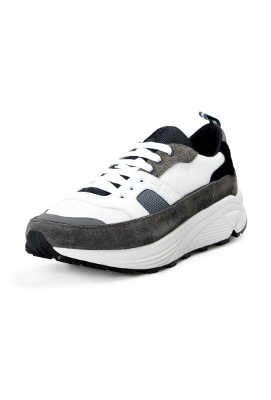 Car Shoe By Prada Men's Gray Suede Leather Fashion Sneakers Shoes