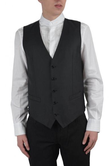 Dolce & Gabbana Men's Gray Wool Silk Vest