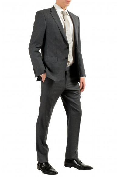 """Hugo Boss """"Huge6/Genius"""" Men's 100% Wool Dark Gray Two Button Suit: Picture 2"""