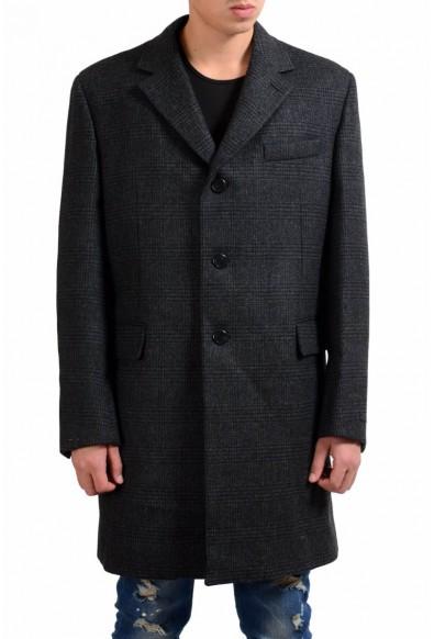 Prada Men's 100% Wool Plaid Three Button Coat
