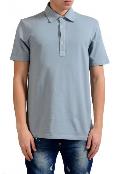 Malo Men's Light Gray Short Sleeve Polo Shirt