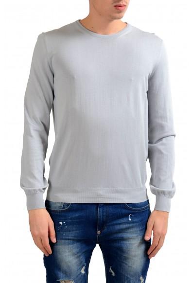Malo Men's Crewneck Gray Light Pullover Sweater