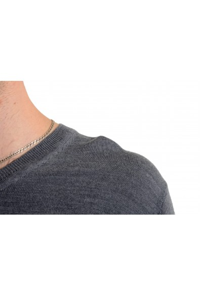 Just Cavalli Men's 100% Wool Gray V-Neck Sweater: Picture 2