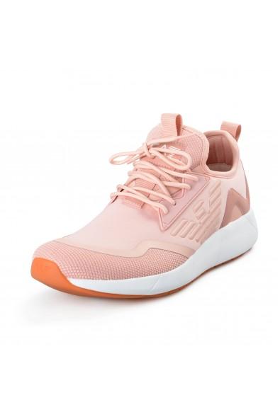 Emporio Armani EA7 Men's Pink Leather Fashion Sneakers Shoes