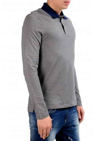 Malo Men's Gray Long Sleeve Polo Shirt: Picture 2