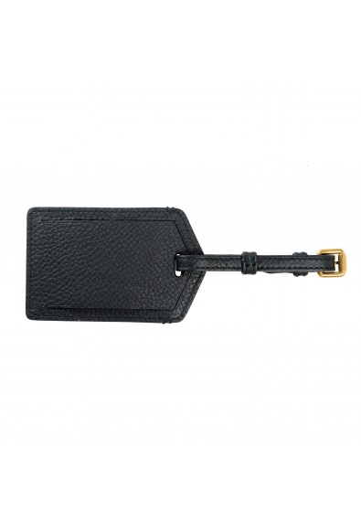 Burberry Black Pebbled Leather Luggage Tag: Picture 2