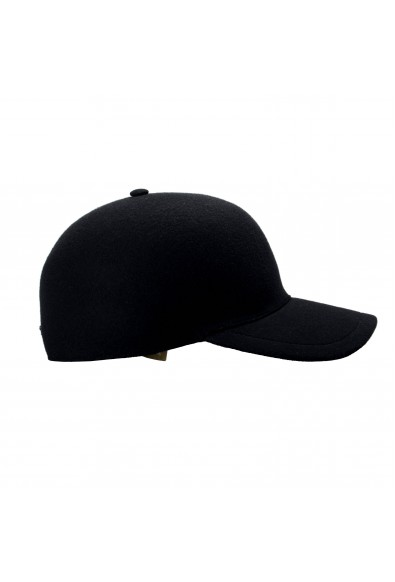 """Burberry Men's """"MOULDED""""Black Wool Cashmere Checkered Baseball Cap Hat: Picture 2"""