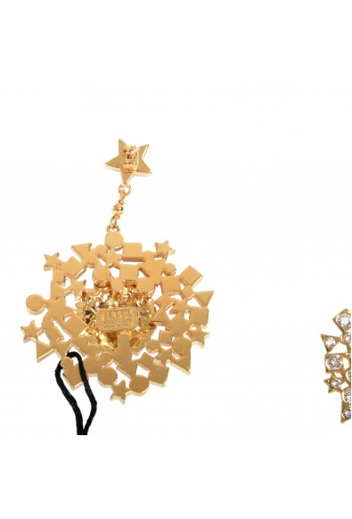 Versus by Versace Rhinestone & Gold Plated Lion Earrings: Picture 2