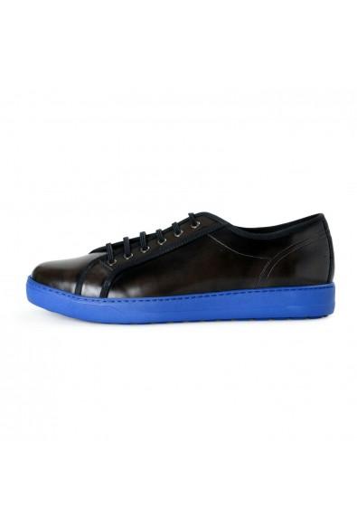 Salvatore Ferragamo Men's Fulton Black Leather Fashion Sneakers Shoes: Picture 2