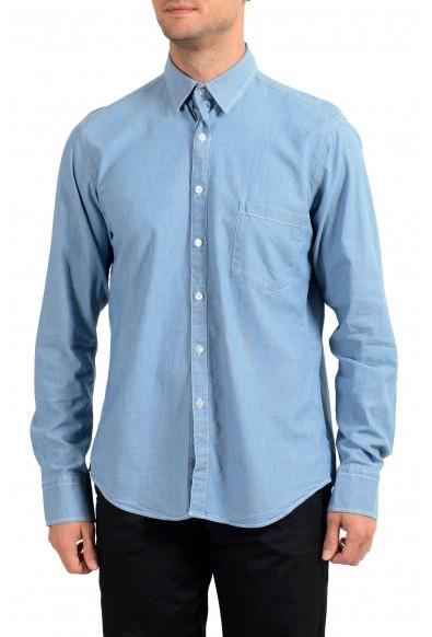 Dolce&Gabbana D&G Men's Blue Long Sleeve Dress Shirt