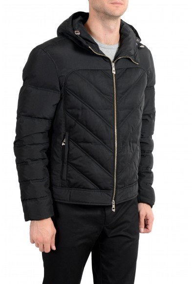 Versace Collection Men's Black Down Full Zip Hooded Parka Jacket: Picture 2