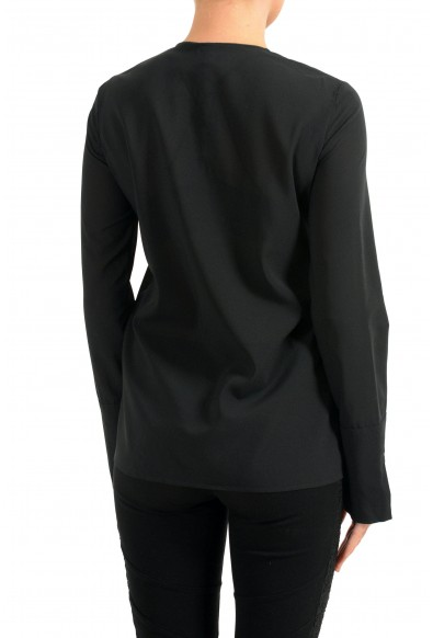 Just Cavalli Women's Black Button Up Long Sleeve Blouse Top: Picture 2