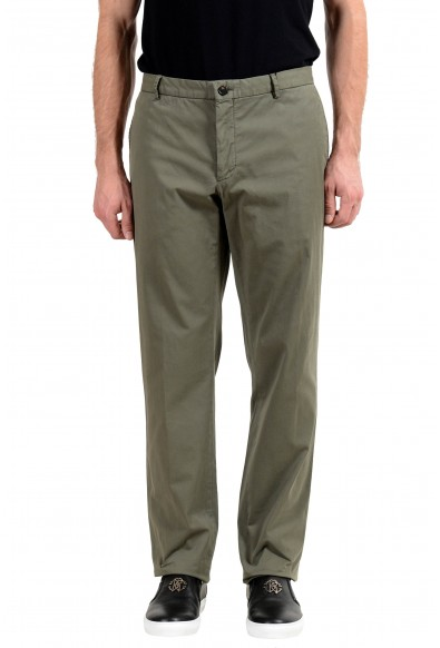 Burberry Men's Olive Green Casual Pants