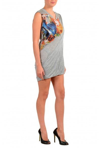 Just Cavalli Women's Gray Floral Print Tunic Mini Dress: Picture 2