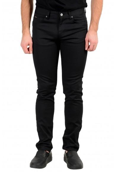 "Hugo Boss Men's ""Delaware3-1-20"" Off Black Stretch Jeans"