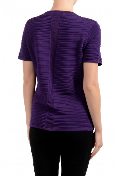 Versace Collection Women's Purple Short Sleeve Sweater: Picture 2