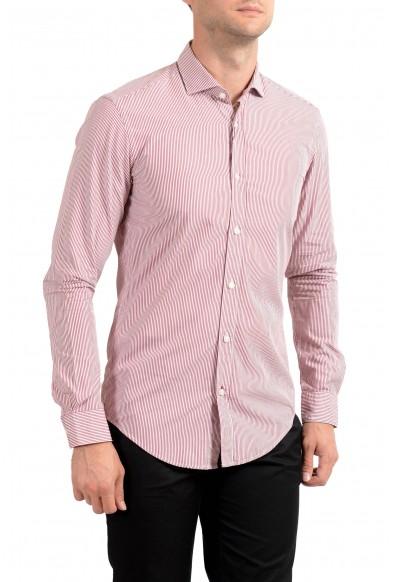 "Hugo Boss Men's ""Ridley_41"" Slim Fit Striped Long Sleeve Casual Shirt"