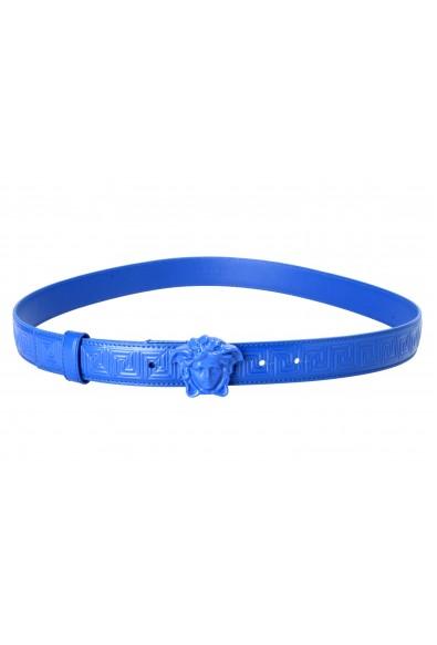 Versace 100% Leather Blue Women's Belt : Picture 2