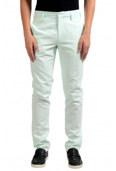 Marc Jacobs Men's Mint Green Flat Front Dress Pants