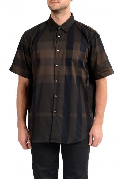 "Burberry Men's ""MELTHORPE"" Plaid Short Sleeve Shirt"