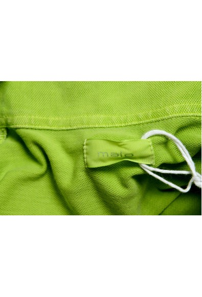 Malo Men's Bright Green Short Sleeve Polo Shirt: Picture 2