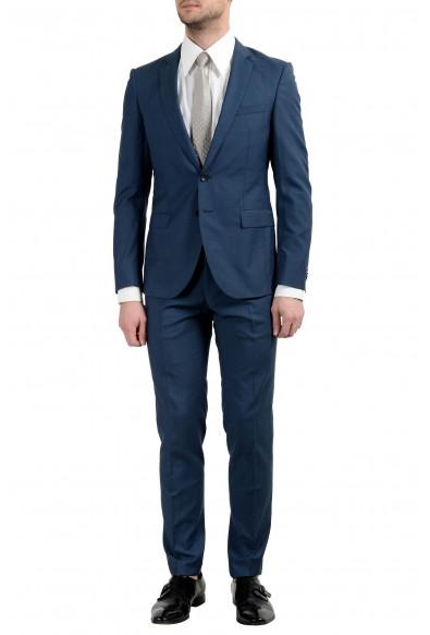 "Hugo Boss ""Rocco/Wyatt"" Men's 100% Wool Dark Blue Two Button Suit"