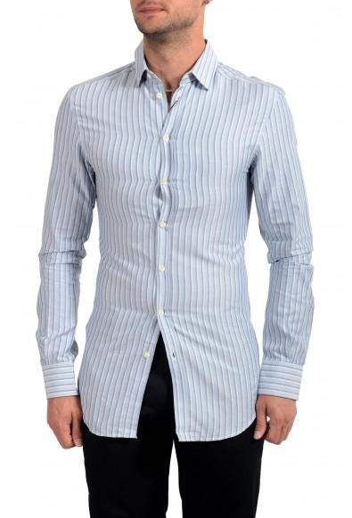 Dolce&Gabbana D&G Men's Striped Long Sleeve Dress Shirt