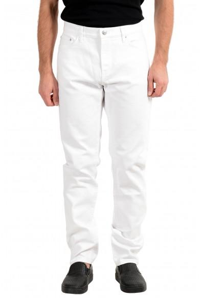"Burberry Brit Men's ""Slim"" White Straight Leg Jeans"