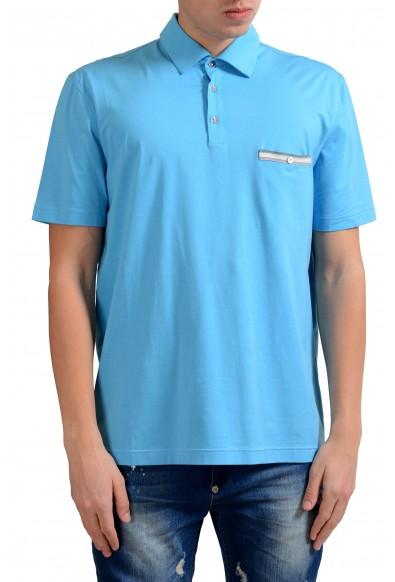 Malo Men's Sky Blue Stretch Short Sleeve Polo Shirt