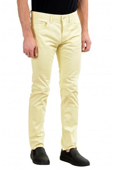 "Hugo Boss ""Delaware3-1-20+"" Men's Yellow Stretch Slim Jeans : Picture 2"