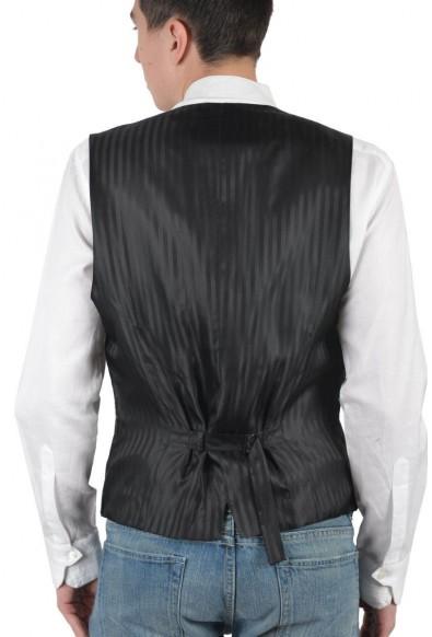 Dolce & Gabbana Men's Gray Wool Vest : Picture 2