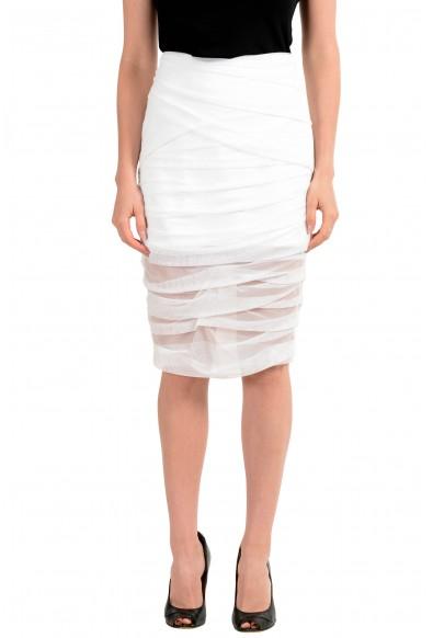 Versace Women's White Bodycon Skirt