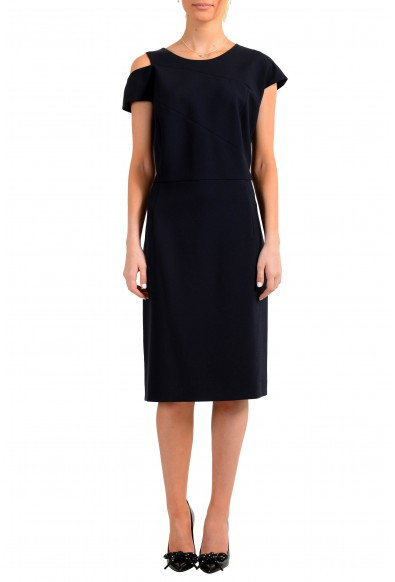 "Hugo Boss Women's ""Danouk"" Blue Sleeveless Pencil Dress"