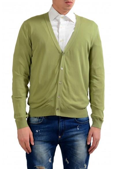 Malo Men's Light Green Cardigan Sweater