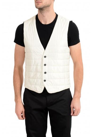 """Hugo Boss Men's """"Hiwan"""" Off White Lightly Insulated Vest"""