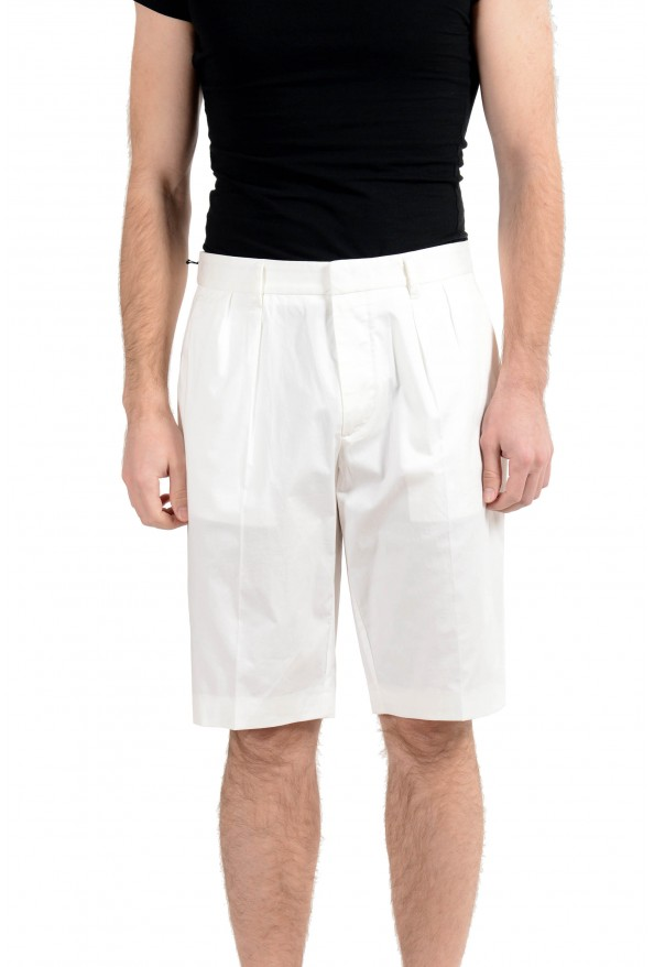 "Hugo Boss ""Kirio-Short-Pleats"" Men's White Pleated Casual Shorts"